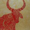 Rot, Gold, Tiere, Malerei