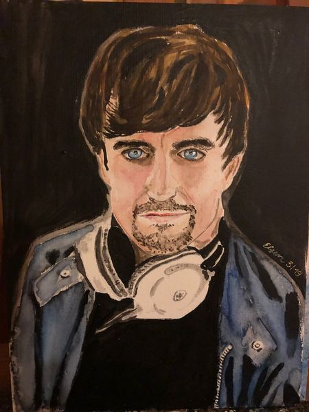 Mann, Portrait, Aquarellmalerei, Aquarell