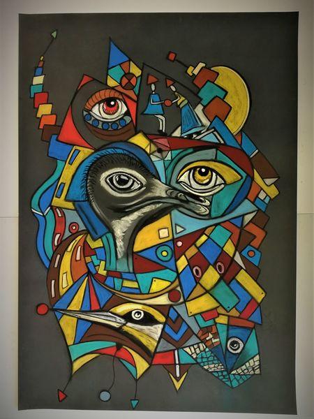 Abstrakt, Bunt, Leuchtend, Augen, Fantasie, Gestaltung
