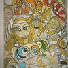 Abstrakt, Bunt, Kopf, Fantasie