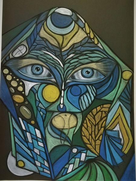 Augen, Bunt, Wortlos, Kopf, Abstrakt, Malerei