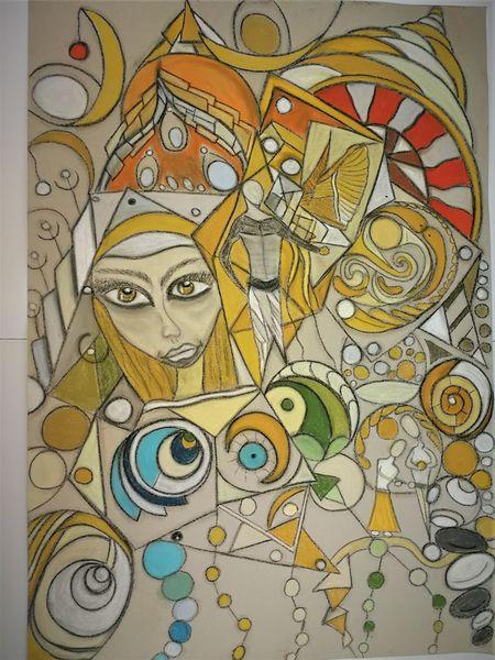 Gesicht, Abstrakt, Bunt, Kopf, Fantasie, Malerei