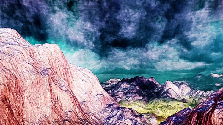 Fraktalkunst, Digital, Gimp, Terragen, Digitale kunst