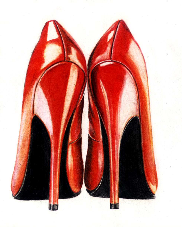 High Heel Fashion Illustration