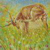 Malerei, Hirsch, Gold, Lichtmalerei