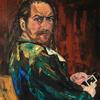 Augen, Ölmalerei, Sitzen, Hodler