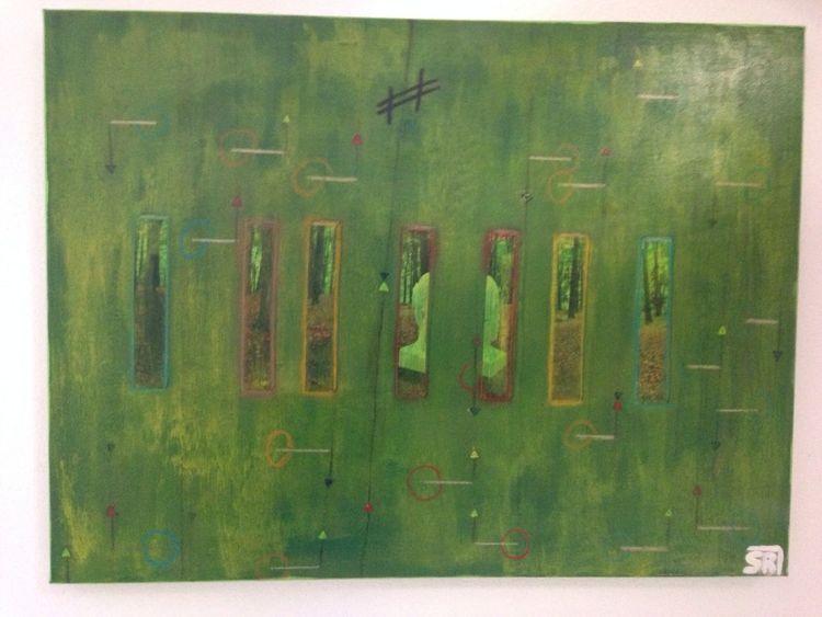 Abstrakt, Grün, Fotografie, Malerei,