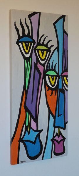 Musiker, Moderne malerei, Moderne kunst, Ethnische gemälde, Jazz, Malerei