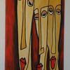 Moderne kunst, Dekorative kunstwerk, Moderne kunst gemälde, Illustrative leinwände