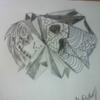 Zeichnung, Skelett, Farben, Bleistiftzeichnung