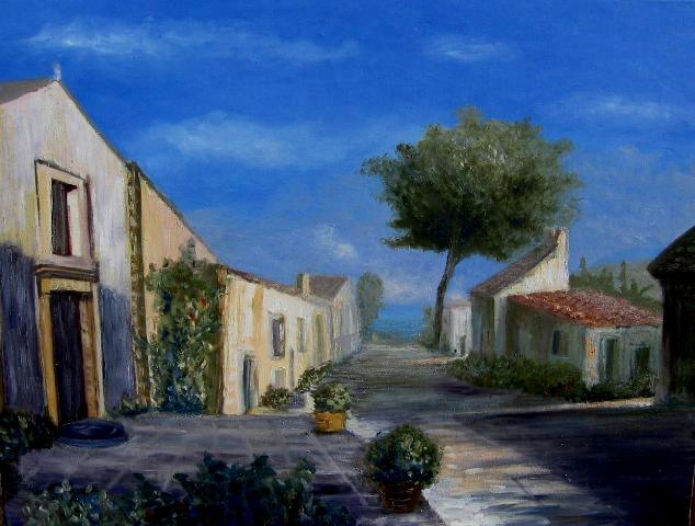 Haus, Siesta, Dorf, Meer, Nachmittag, Landschaft