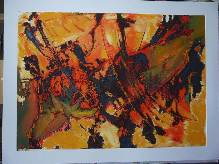 Beize, Informel, Mischtechnik, Ölmalerei, Malerei, Acrylmalerei