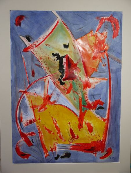 Abstrakt, Malerei, Temperamalerei, Schiff, Mischtechnik, Lack