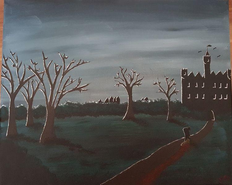 Malerei, Acrylmalerei, Nacht