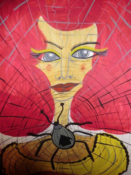 Die spinnenfrau, Dame, Traumwelt, Unterschiedlich, Frau, Malerei