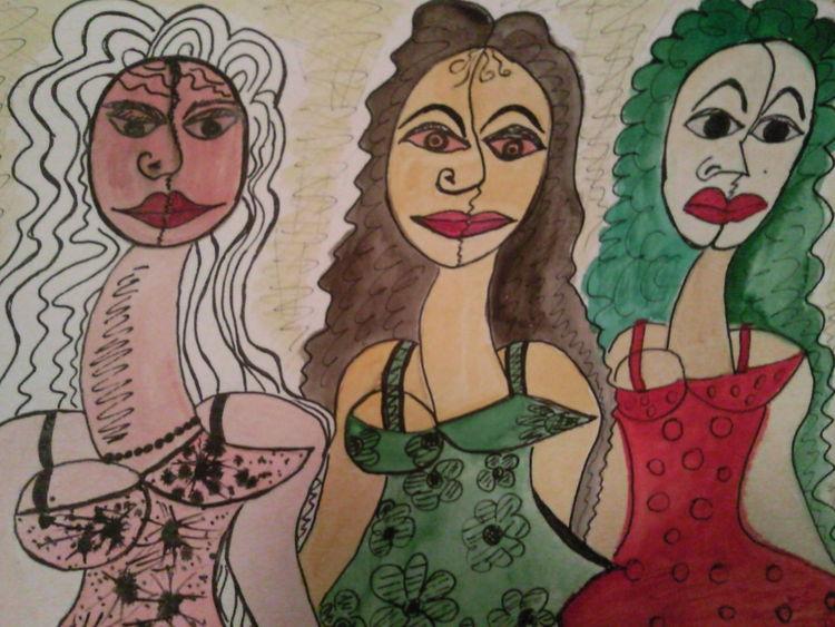 Die brasilianischen frauen, Malerei
