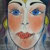 Dame, Weiblichkeit, Reiz, Malerei