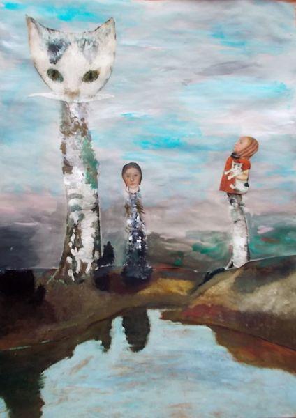 Mischtechnik, Triptychon, Hommage
