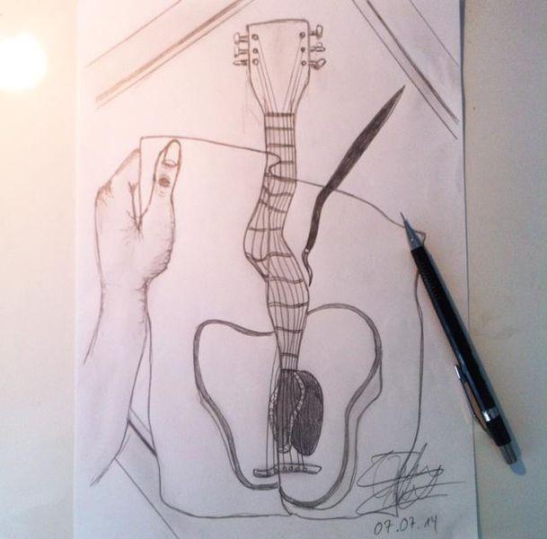 Abstrakt, Bleistiftzeichnung, Zeichnung, Zeichnungen