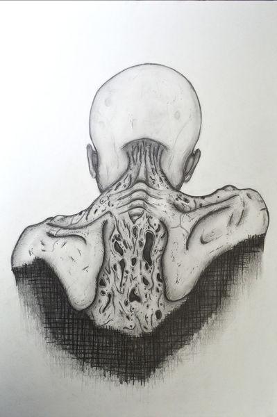 Tod, Abstrakt, Zeichnung, Bleistiftzeichnung, Zeichnungen