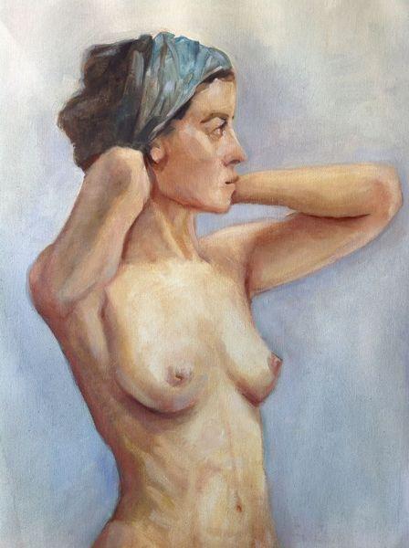 Figural, Malerei, Skulptur, Leinen, Ölmalerei, Frau
