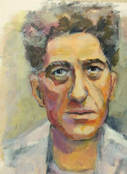 Acrylmalerei, Portrait, Leinen, Malerei,