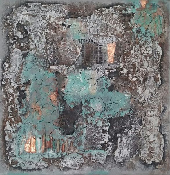 Kupfer, Natur, Spachtel, Mischtechnik, Malerei