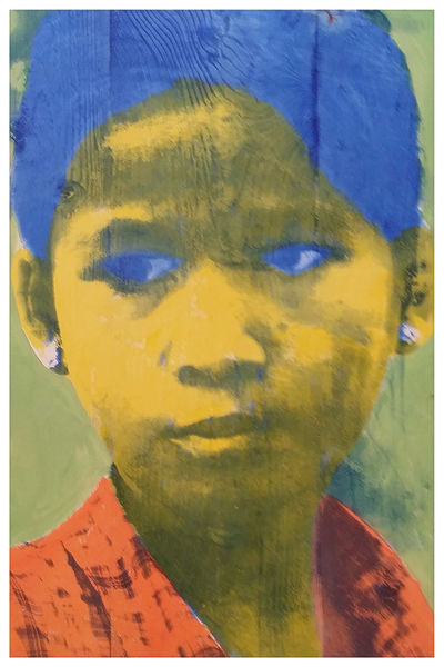 Kids, Nepal, Popart, Siebdruck, Portrait, Druckgrafik