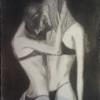 Frau, Schwarz, Kohlezeichnung, Zeichnungen