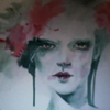 Portrait, Abstrakt, Bunt, Grün