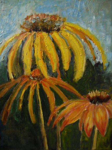 Blüte, Blumen, Sommer strauss, Garten, Malerei