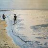 Menschen, Ostsee, Gegenlicht, Strand