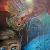Umwelt, Blindheit, Spachtel, Malerei