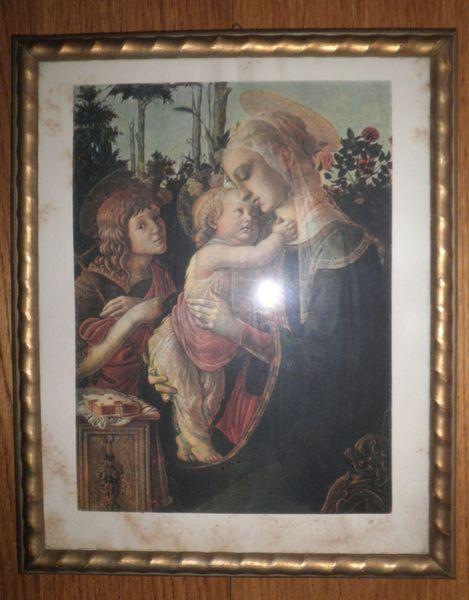 Figural, Täufer, Botticelli, Kind, Portrait, Frau