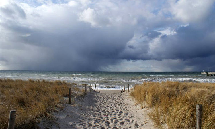Mecklenburg, Sand, See, Wolken, Meer, Wasser