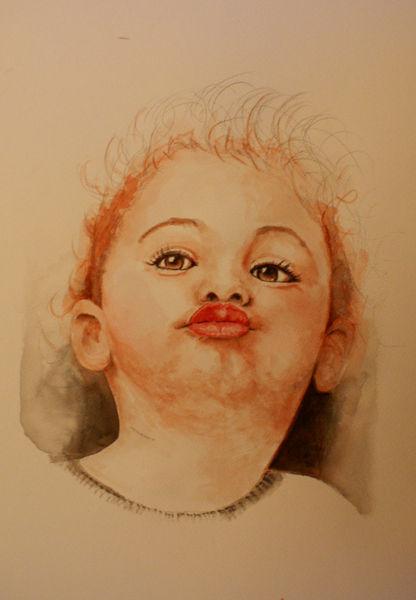 Smooch, Kind, Kindergesicht, Gesicht, Malerei