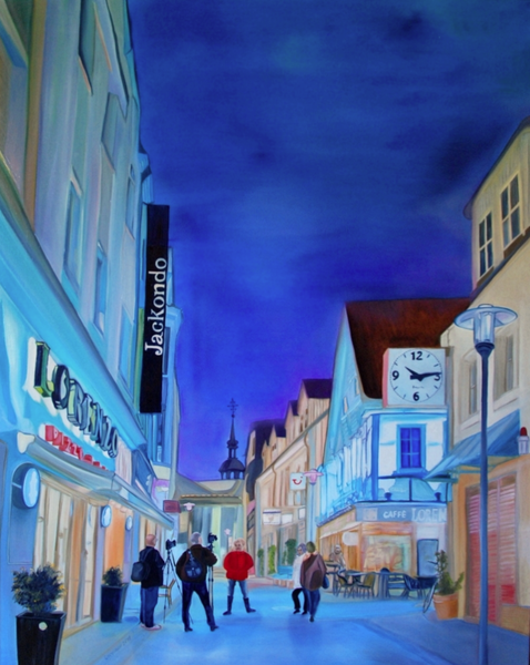 Nacht, Licht, Ölmalerei, Kirche, Leuchten, Kasyanov