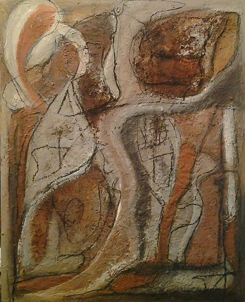 Abstrakt, Strukturieren, Malerei,