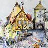 Historische altstadt, Fachwerk, Haus, Stadt