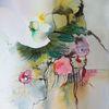 Weiße blüte, Fantasie, Blumen, Malerei