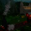 Burg, Eisenbahn, Zug, Digitale kunst