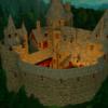 Fantasie, Burg, Rendering, Wald