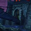 Burg, Gruselschloss, Digitale kunst, Digitale gemälde
