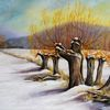 Winter, Weiden, Schnee, Landschaft