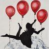 Fliegen, Erde, Ballon, Rot schwarz