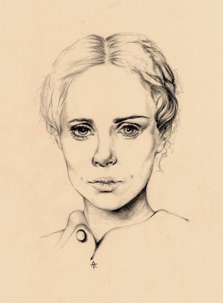 Frau, Portrait, Jung, Dame, Gesicht, Zeichnungen