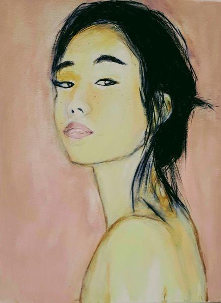 Japanerin, Acrylmalerei, Malerei, Welt,