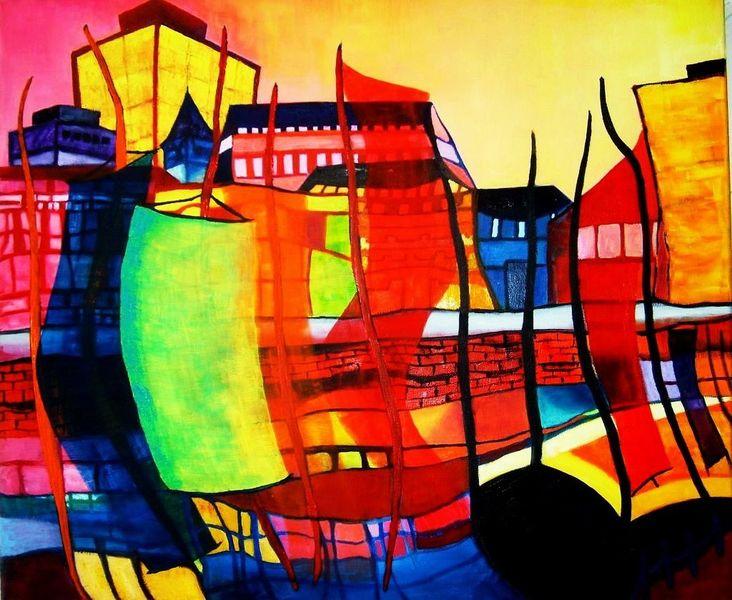 Expressionismus, Ölmalerei, Landschaft, Malerei