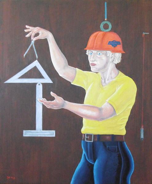 Menschen, Malerei, Selbstreflektion