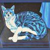 Blau, Katze, Stillleben, Malerei